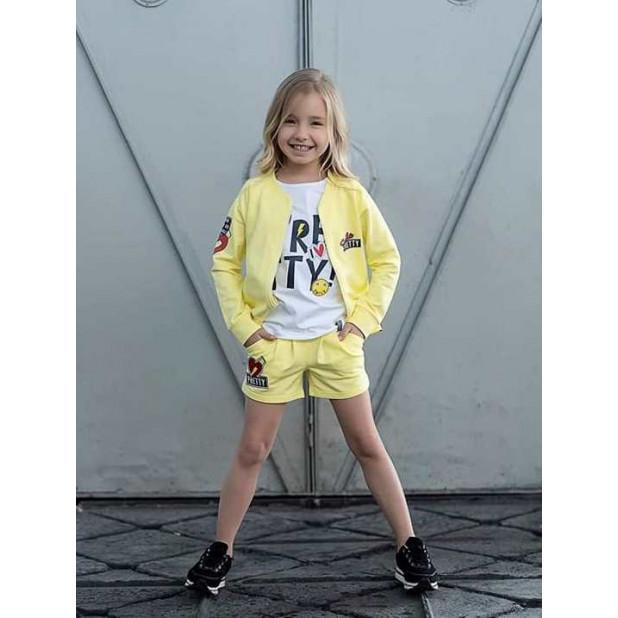 Geltonas džemperis mergaitėms