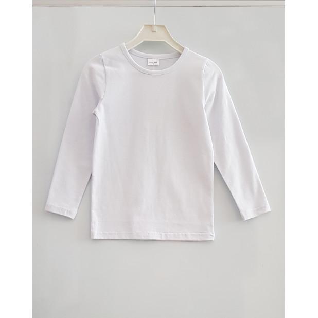 Balti marškinėliai ilgomis...