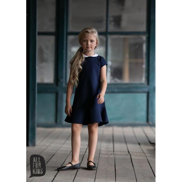 """Tamsiai mėlyna suknelė """"Daina"""""""