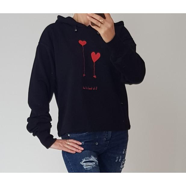 """Juodas džemperis """"Balionėliai"""""""