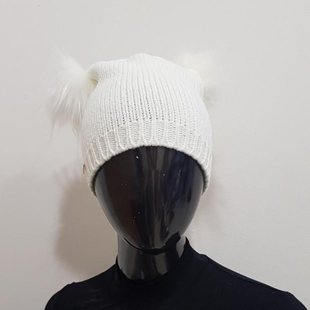 """Balta kepurė """"Pūkas"""""""