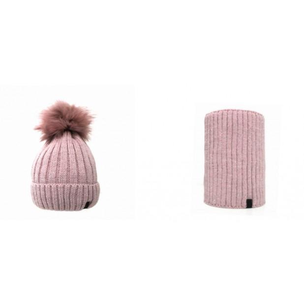 Rožinis kepurės ir movos...