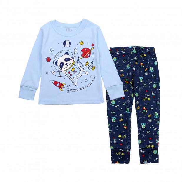 """Žydra pižama """"Panda kosmose"""""""