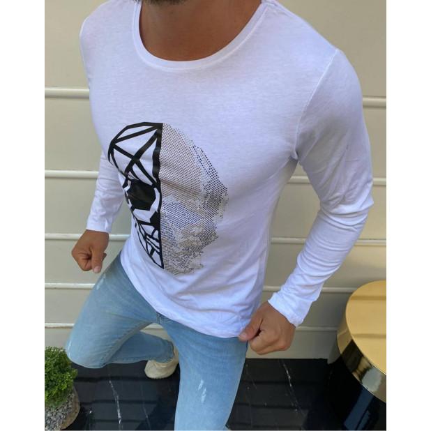 """Balti marškinėliai """"Skull"""""""