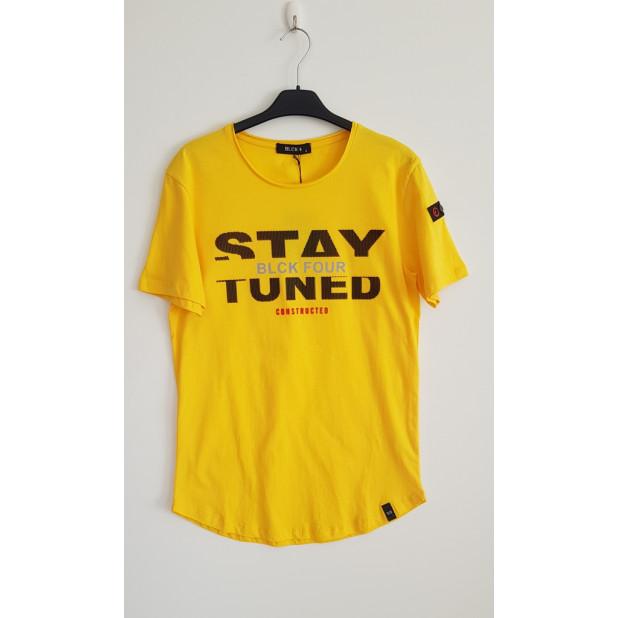 """Geltoni marškinėliai """"Stay..."""