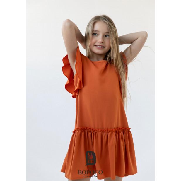 Oranžinė suknelė mergaitėms...