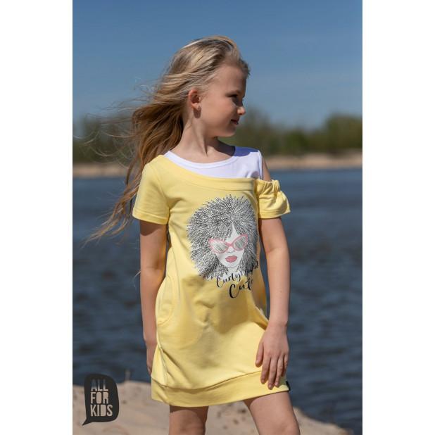 Geltona tunika-suknelė...