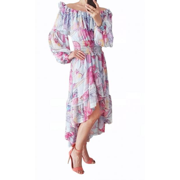 """Melsva suknelė """"Gėlių fiesta"""""""