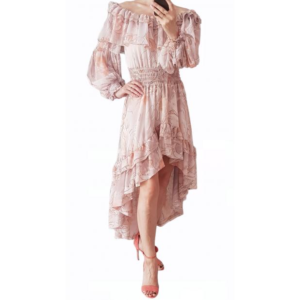 """Rusva suknelė """"Gėlių fiesta"""""""