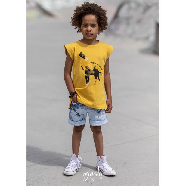 """Geltoni marškinėliai """"Rokis"""""""