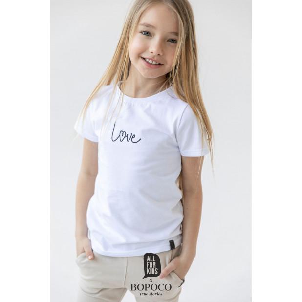 """Marškinėliai mergaitėms """"Love"""""""