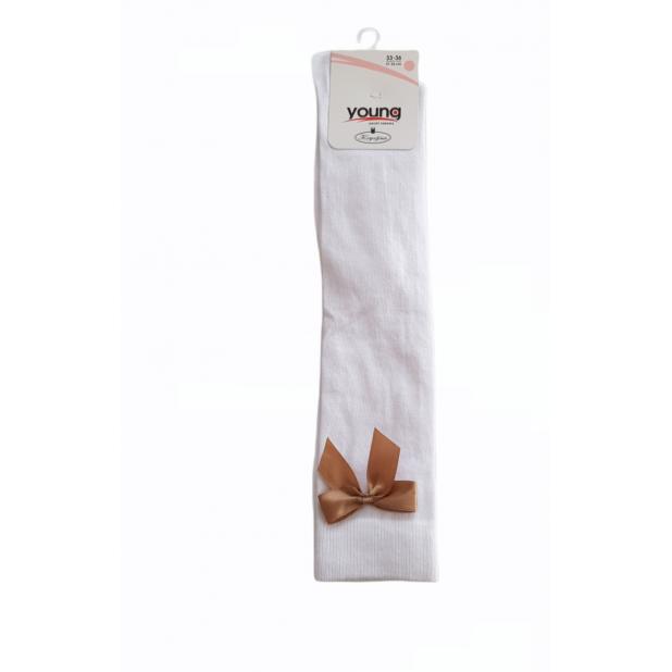 Baltos kojinės puoštos...
