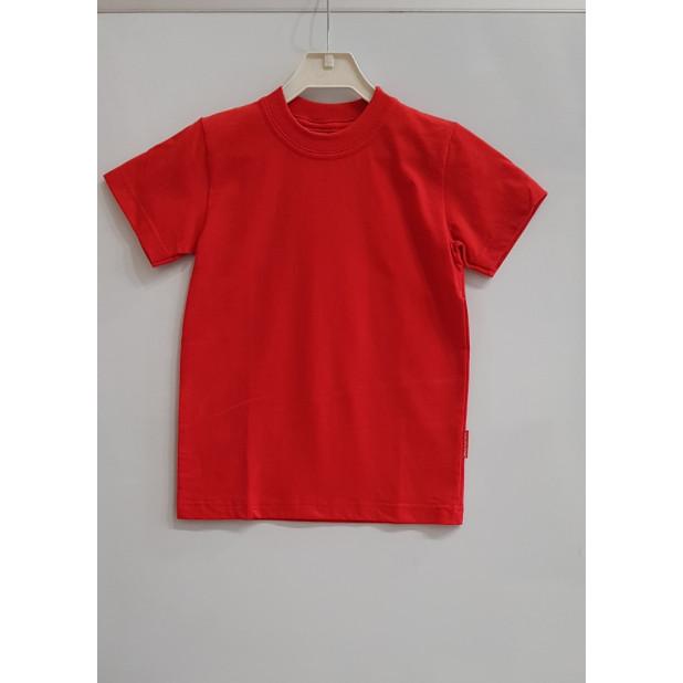 Raudoni vaikiški marškinėliai